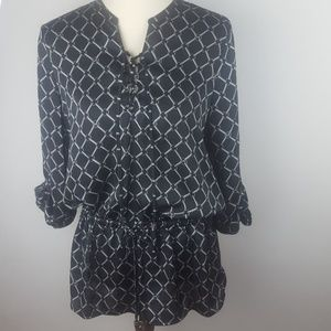 Michael Kors Chain Link Logo Draw Strong Top